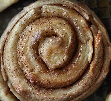 home-made cinnamon roll by Michelle  Sogan