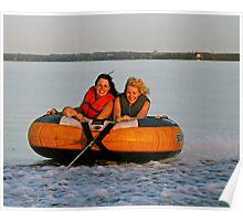 Sunset Tubing - Ottawa River Poster