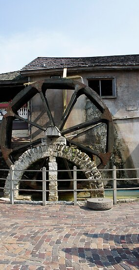 St. Augustine Water Wheel by Laurie Perry