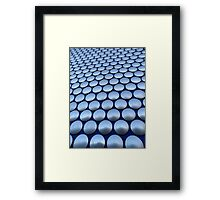 Modern Architectural Silver Circles Exterior of Birmingham Bull Ring Framed Print