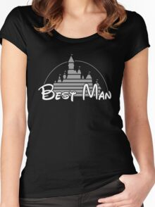 Best Man Black Silver Women's Fitted Scoop T-Shirt