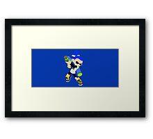 Inkling Boy (Blue) - Splatoon Framed Print