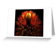 Golden Waratah Greeting Card