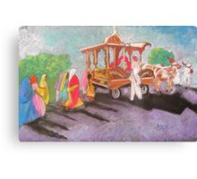 Hindu procession in rural India Canvas Print