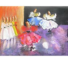 whirling dervishes in Istanbul, Turkey Photographic Print