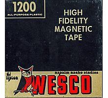 Wesco Magnetic Tape Photographic Print