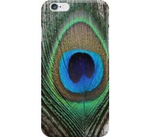 Peacock Feather on Vintage Paper iPhone Case/Skin