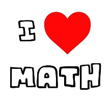 I Heart Math Photographic Print
