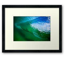 Aqua Funnels Framed Print