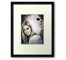 Buffy and The Master Framed Print