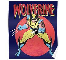 Wolverine Retro Comic Poster