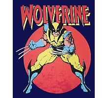 Wolverine Retro Comic Photographic Print