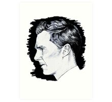 Cumberbatch Drawing Art Print