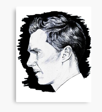 Cumberbatch Drawing Canvas Print