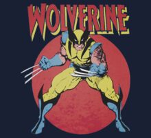 Wolverine Retro Comic Kids Tee