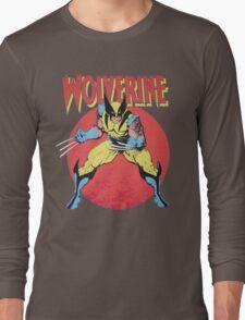 Wolverine Retro Comic Long Sleeve T-Shirt