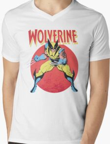 Wolverine Retro Comic Mens V-Neck T-Shirt