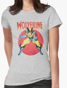 Wolverine Retro Comic Womens Fitted T-Shirt