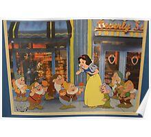 Disney Snow White and the 7 Dwarfs Dopey Disney Princesses Villians Poster