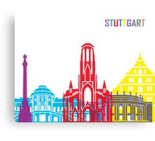 Stuttgart skyline pop Canvas Print