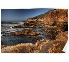 San Diego coast at sunset Poster