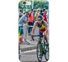 Triatletas en bici iPhone Case/Skin