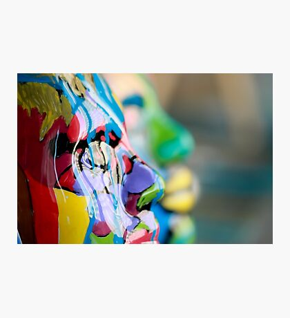 Painted Masks by Chicago Artist Gary Bradley Photographic Print
