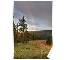 A Rainbow Up High - Ahtanum State Forest - Yakima County Poster