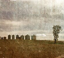 Nine Silos a Tank and a Tree by garts