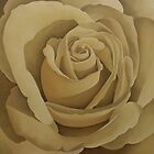 Cream Rose 2 by Martha Mitchell