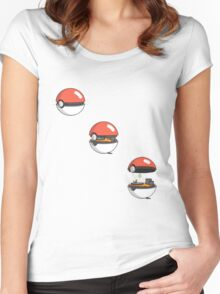 Inside the Pokeball Women's Fitted Scoop T-Shirt