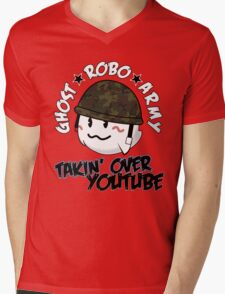 The GhostRobo Army Mens V-Neck T-Shirt