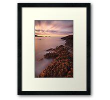 """Precambrian Sunset"" Framed Print"