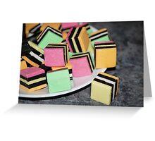 Food-Liquorice Allsorts Greeting Card