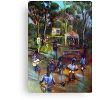 the Great Scott Artmix Tin Can Bay Canvas Print