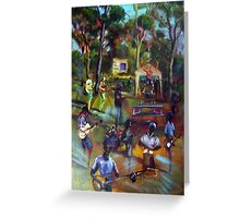 the Great Scott Artmix Tin Can Bay Greeting Card