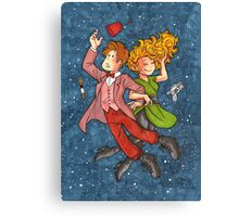 Doctor and River in Space Canvas Print
