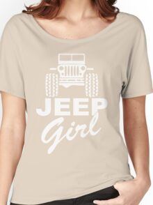 Jeep girl White Women's Relaxed Fit T-Shirt