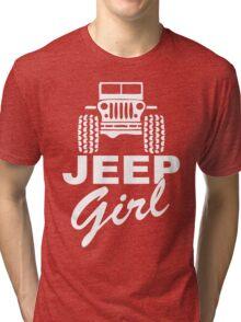 Jeep girl White Tri-blend T-Shirt