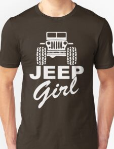 Jeep girl White Unisex T-Shirt
