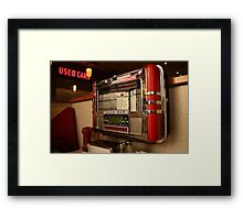 American diner jukebox Framed Print