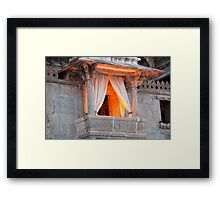 A Window Over Lake Pichola Framed Print