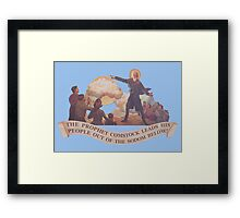 BioShock Infinite – The Prophet Leads His People Out of the Sodom Below Framed Print