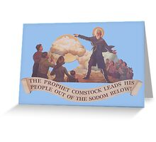 BioShock Infinite – The Prophet Leads His People Out of the Sodom Below Greeting Card