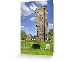 West Wall Remains, Ticknall Old Church Greeting Card