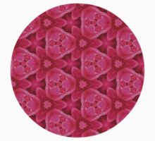Hot Pink Abstract Rose Pattern One Piece - Long Sleeve