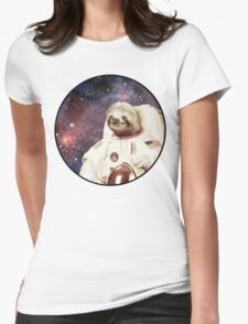 Astro Sloth Womens Fitted T-Shirt