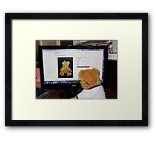 Cyber Teddy Framed Print