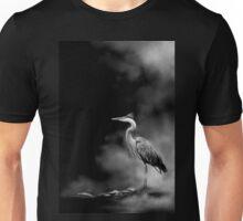 Heron in the Mist Unisex T-Shirt