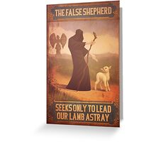 BioShock Infinite – The False Shepherd Seeks Only To Lead Our Lamb Astray Poster Greeting Card